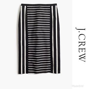J. Crew | Mixed Stripe Canvas No 2 Pencil Skirt